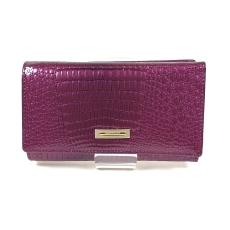 Prestige lila, két oldalas krokkó lakk bőr női pénztárca-zippes 55020-1