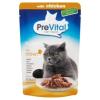 PreVital teljes értékű állateledel felnőtt macskák számára csirkével szószban 85 g