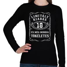 PRINTFASHION 18 éves limitált kiadás - Női hosszú ujjú póló - Fekete