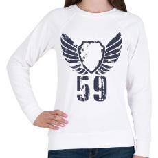 PRINTFASHION 59gbl.png - Női pulóver - Fehér