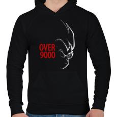 PRINTFASHION 9000 szint felett - Férfi kapucnis pulóver - Fekete