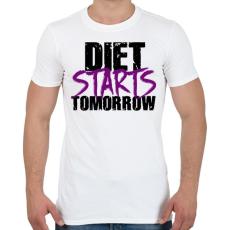 PRINTFASHION A diéta holnaptól kezdődik - Férfi póló - Fehér