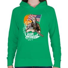 PRINTFASHION A fegyver dicsősége - Női kapucnis pulóver - Zöld