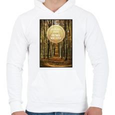 PRINTFASHION A föld zenéje - Férfi kapucnis pulóver - Fehér