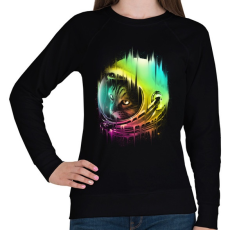 PRINTFASHION A galaxis vándora - Női pulóver - Fekete
