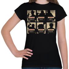 PRINTFASHION A horror horda - Női póló - Fekete női póló