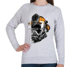PRINTFASHION A hős maszkos - tűzoltó - Női pulóver - Sport szürke
