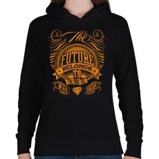 PRINTFASHION A jövő - Női kapucnis pulóver - Fekete