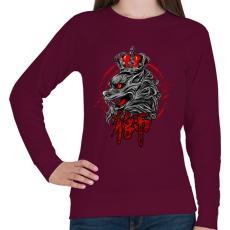 PRINTFASHION A király - Női pulóver - Bordó