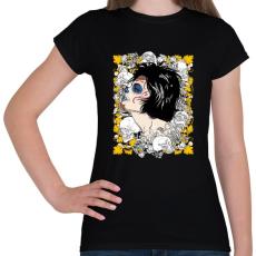 PRINTFASHION A királynő és a koponyák - Női póló - Fekete