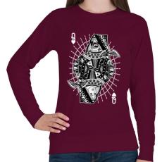 PRINTFASHION A királynő szerelme - Női pulóver - Bordó