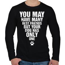 PRINTFASHION A kutyádnak csak egy barátja van! - Férfi hosszú ujjú póló - Fekete
