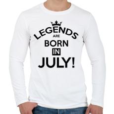 PRINTFASHION A legendák Júliusban születnak - Férfi hosszú ujjú póló - Fehér