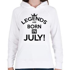 PRINTFASHION A legendák Júliusban születnak - Női kapucnis pulóver - Fehér