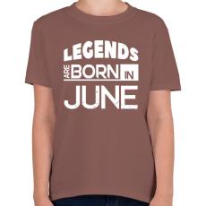 PRINTFASHION A legendák júniusban születnek - Gyerek póló - Mogyoróbarna