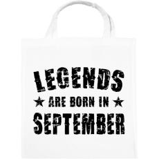 PRINTFASHION A legendák szeptemberben születtek - Vászontáska - Fehér