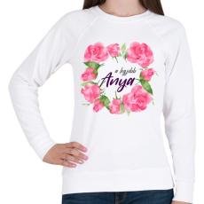 PRINTFASHION A legjobb Anya - Női pulóver - Fehér