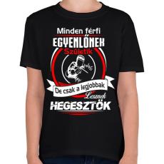 PRINTFASHION A legjobb hegesztők - Gyerek póló - Fekete