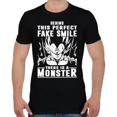 PRINTFASHION A mosoly mögött egy szörny lakozik - Férfi póló - Fekete