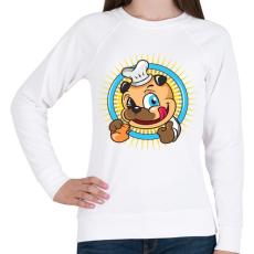 PRINTFASHION A pék kutyája - Női pulóver - Fehér