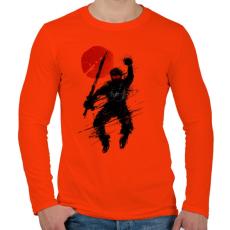PRINTFASHION A pillanat - Férfi hosszú ujjú póló - Narancs