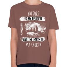 PRINTFASHION A természet az én vallásom - Gyerek póló - Mogyoróbarna