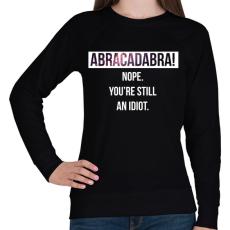 PRINTFASHION Abracadabra! (white) - Női pulóver - Fekete