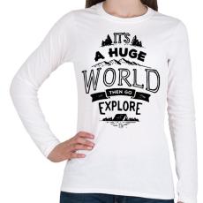 PRINTFASHION Adventure - Női hosszú ujjú póló - Fehér