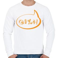 PRINTFASHION agrrr-orange - Férfi pulóver - Fehér