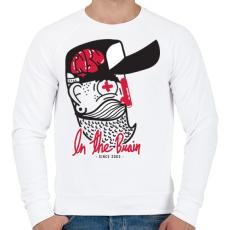 PRINTFASHION Agyas - Férfi pulóver - Fehér