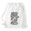 PRINTFASHION Agymenők Soft Kitty - Sportzsák, Tornazsák - Fehér