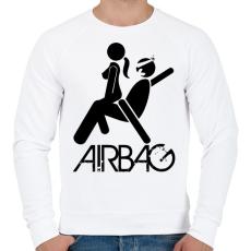PRINTFASHION Airbag - Férfi pulóver - Fehér