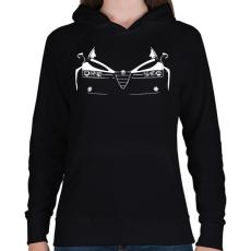 PRINTFASHION ALFA - Női kapucnis pulóver - Fekete
