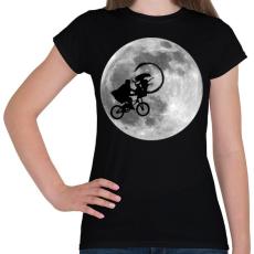 PRINTFASHION Alien - Női póló - Fekete