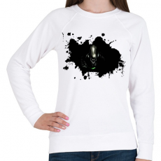 PRINTFASHION Alien  - Női pulóver - Fehér