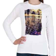 PRINTFASHION Álomvilág - Női hosszú ujjú póló - Fehér