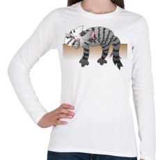PRINTFASHION Alvó cic - Női hosszú ujjú póló - Fehér