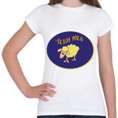 PRINTFASHION Alvós póló - Női póló - Fehér
