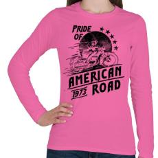 PRINTFASHION Amerika büszkesége  - Női hosszú ujjú póló - Rózsaszín