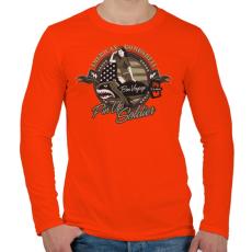 PRINTFASHION Amerikai bombázó - Férfi hosszú ujjú póló - Narancs