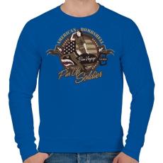 PRINTFASHION Amerikai bombázó - Férfi pulóver - Királykék