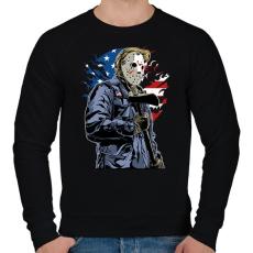PRINTFASHION Amerikai gyilkos - Férfi pulóver - Fekete