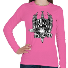 PRINTFASHION Amerikai hadsereg - Női hosszú ujjú póló - Rózsaszín