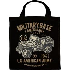 PRINTFASHION Amerikai katonai jeep - Vászontáska - Fekete