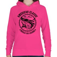 PRINTFASHION Amerikai klasszikus - Női kapucnis pulóver - Fukszia
