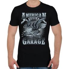 PRINTFASHION Amerikai sas  - Férfi póló - Fekete