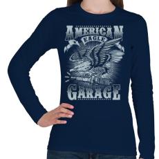 PRINTFASHION Amerikai sas  - Női hosszú ujjú póló - Sötétkék