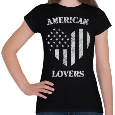 PRINTFASHION Amerikai szerető - Női póló - Fekete