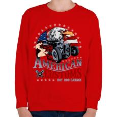 PRINTFASHION Amerikai szokás - Gyerek pulóver - Piros
