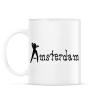 PRINTFASHION amsterdam-black-white - Bögre - Fehér